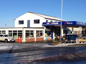 top garage forecourt